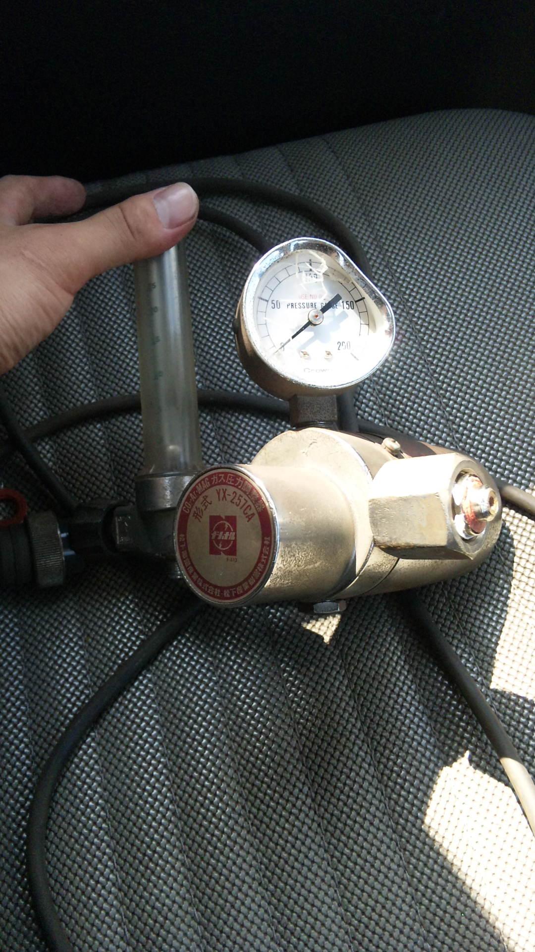 溶接ガスメーター破損